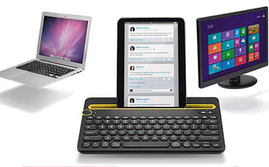 Keyboard Multidevice dan Multifungsi, LOGITECH K480