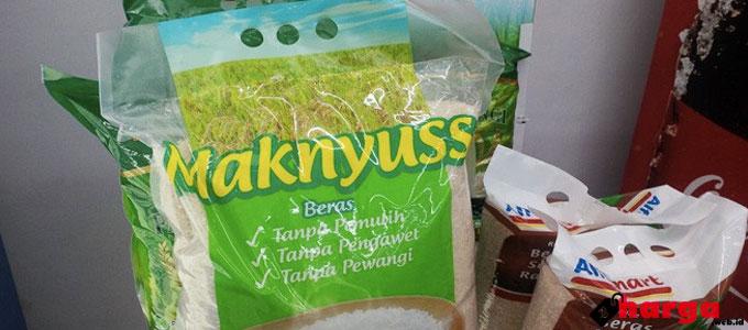 Harga Beras Maknyuss 5 kg Dijual Rp 82.000 di Alfamart