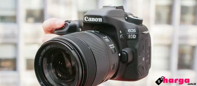 Harga dan Spesifikasi Kamera Canon EOS 80D Kit & Body Only 2017