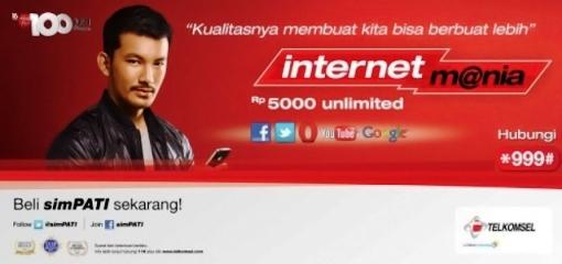 Tarif dan Cara Daftar Paket Internet UNLIMITED dari TELKOMSEL