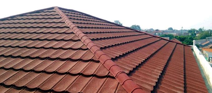 Atap Rumah Genteng Harga Metal Tanah Liat Jenis Rangka