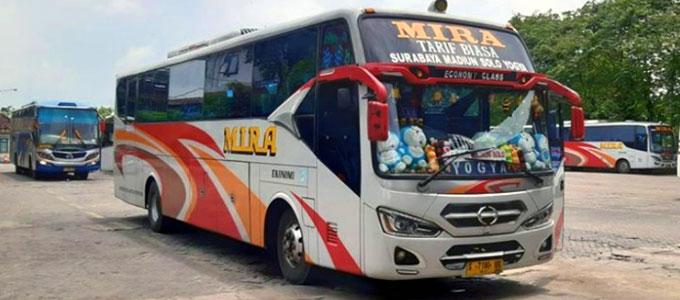 Update Harga Tarif Tiket Bus Mira Surabaya Jogja Daftar Harga Tarif